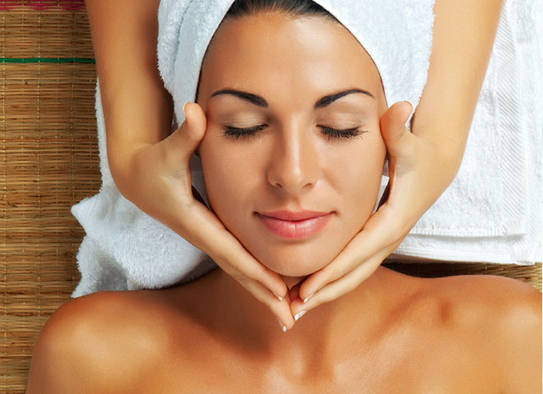 lady getting a facial at Azure - Azure Med Spa in Frisco TX